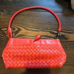 Bottega Veneta small red bag